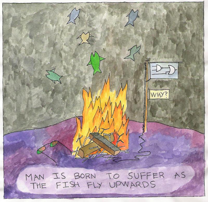 As the Fish Fly Upwards